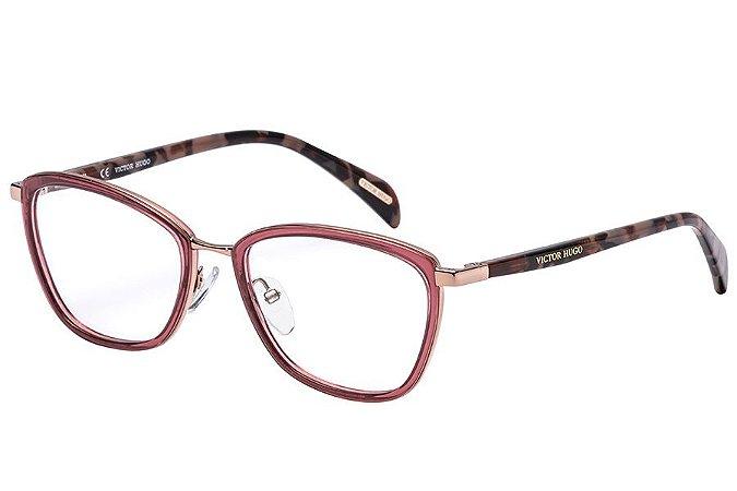 Óculos de Grau Victor Hugo VH1258 0A40/53 Nude/Dourado