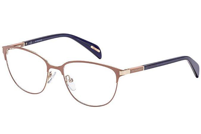 Óculos de Grau Victor Hugo VH1257 0F47/53 Nude/Dourado