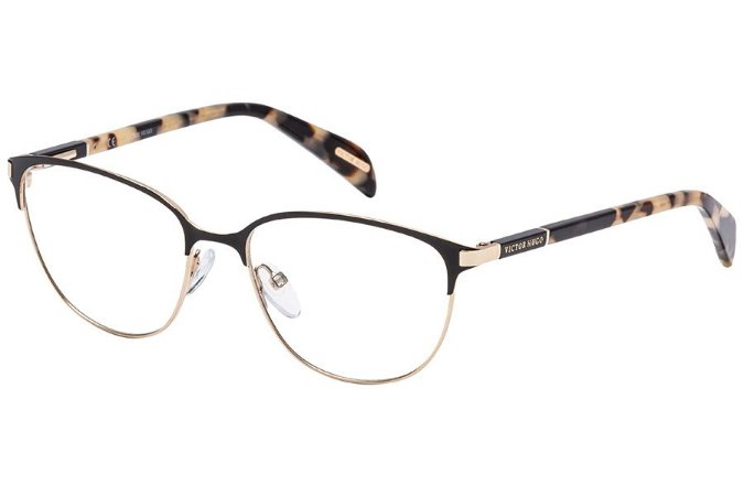 Óculos de Grau Victor Hugo VH1257 303/53 Preto/Dourado