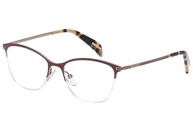 Óculos de Grau Victor Hugo VH1256 0K99/51 Bordô/Tartaruga