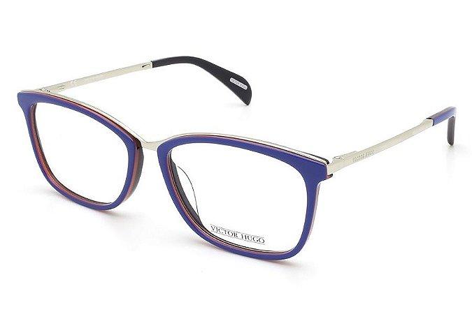 Óculos de Grau Victor Hugo VH1254 0M69/53 Azul/Prata