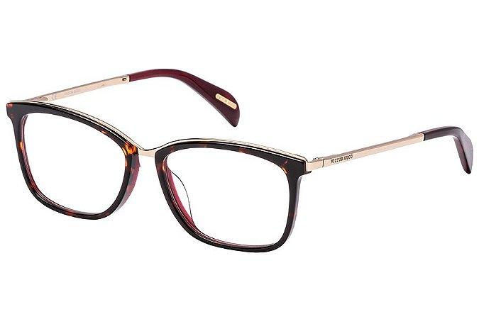 Óculos de Grau Victor Hugo VH1254 897/53 Tartaruga/Dourado