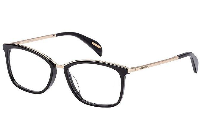 Óculos de Grau Victor Hugo VH1254 700/53 Preto/Dourado
