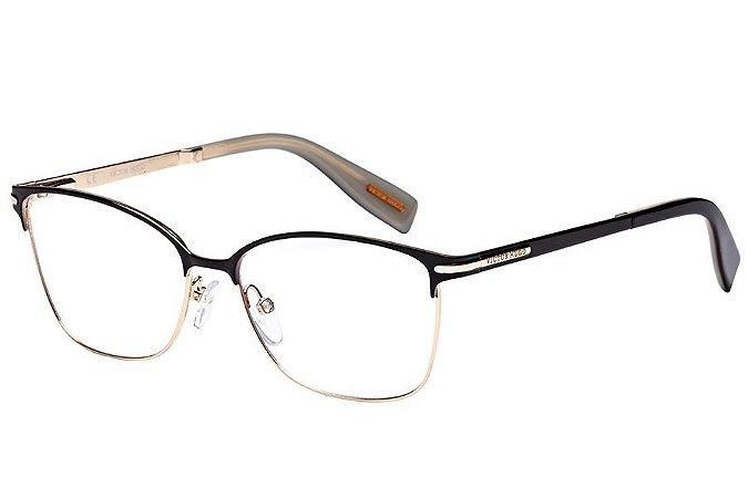 Óculos de Grau Victor Hugo VH1252 327/55 Preto/Dourado