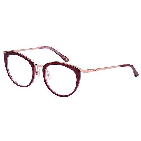 Óculos de Grau Lilica Ripilica VLR130 C01/49 Vermelho