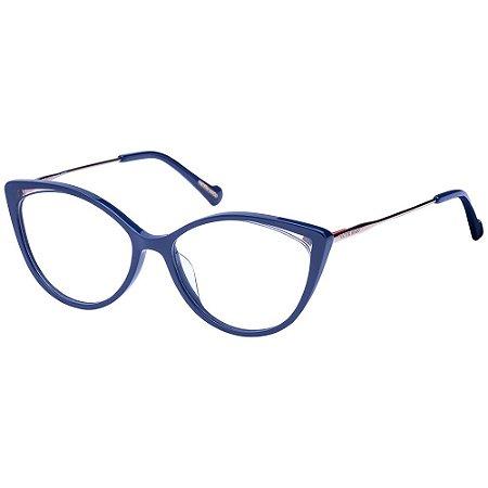 Óculos de Grau Victor Hugo VH1801 01BA/54 Azul