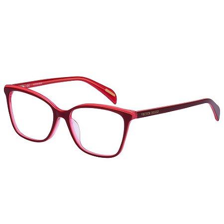 Óculos de Grau Victor Hugo VH1784 07PB/54 Vermelho