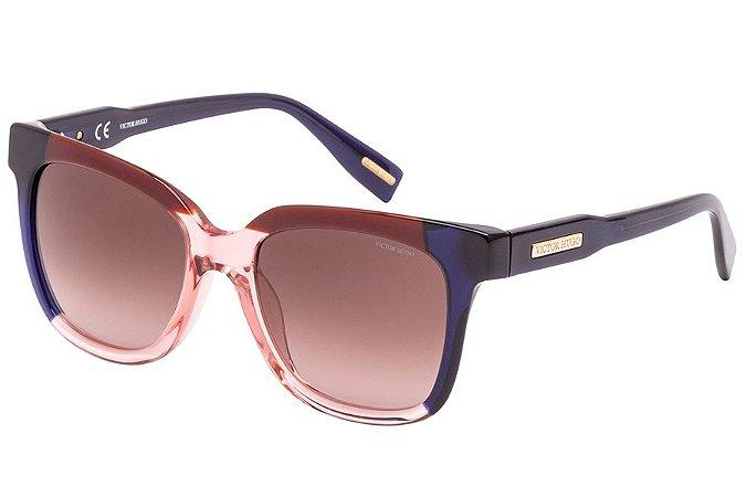 Óculos de Sol Victor Hugo SH1789 01BA/52 Marrom/Bege/Preto
