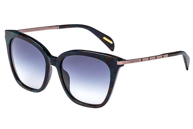 Óculos de Sol Victor Hugo SH1779S 0WT9/54 Tartaruga Azul