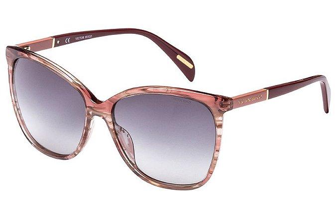Óculos de Sol Victor Hugo SH1778 09PH/58 Marrom Mesclado Transparente