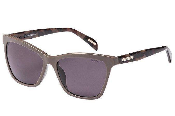 Óculos de Sol Victor Hugo SH1777 06S9/56 Cinza/Tartaruga