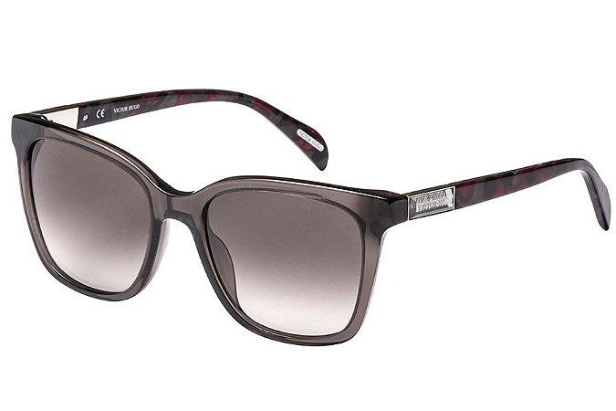 Óculos de Sol Victor Hugo SH1775 09HP/53 Cinza Transparente