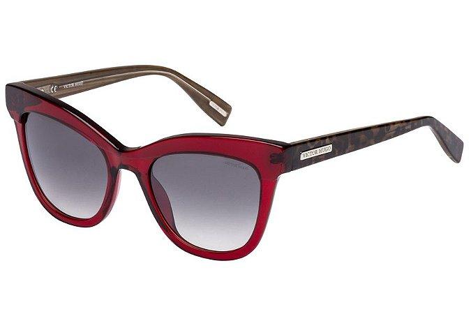 Óculos de Sol Victor Hugo SH1764 V64X/51 Vermelho Transparente/Oncinha