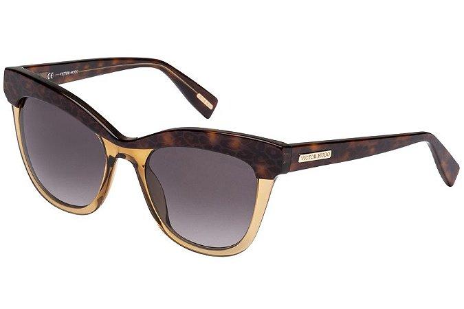 Óculos de Sol Victor Hugo SH1764 07UX/51 Marrom Transparente/Tartaruga