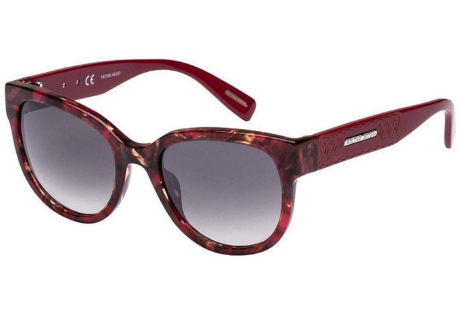 Óculos de Sol Victor Hugo SH1761 9SZX/53 Vermelho Mesclado