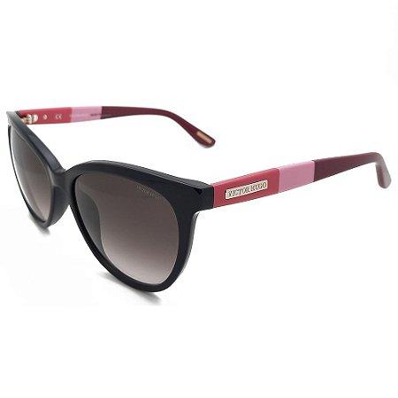 Óculos de Sol Victor Hugo SH1745 0700/54 Preto/Rosa/Bordô