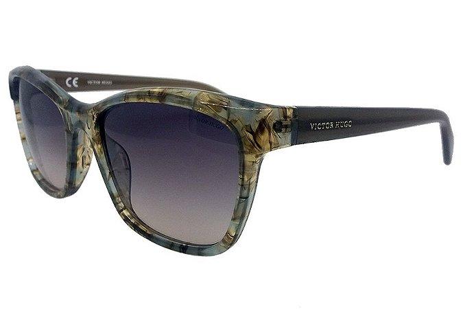 Óculos de Sol Victor Hugo SH1743 06ZC/55 Azul/Marrom Mesclado
