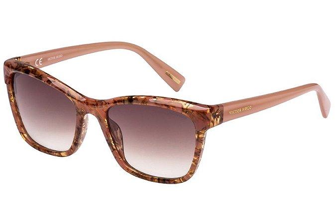 Óculos de Sol Victor Hugo SH1743 06Z8/55 Rose Mesclado