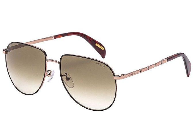 Óculos de Sol Victor Hugo SH1266S 08NS/56 Preto/Dourado