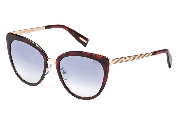 Óculos de Sol Victor Hugo SH1259 300X/54 Tartaruga/Dourado