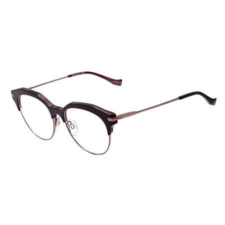 Óculos de Grau Evoke Perception H03/53 Marrom