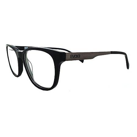 Óculos de Grau Evoke For You DX52 A01/53 Preto Madeira