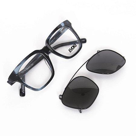 Óculos de Grau Evoke CLIPONSQUAREE01/52 - Azul - Clip On