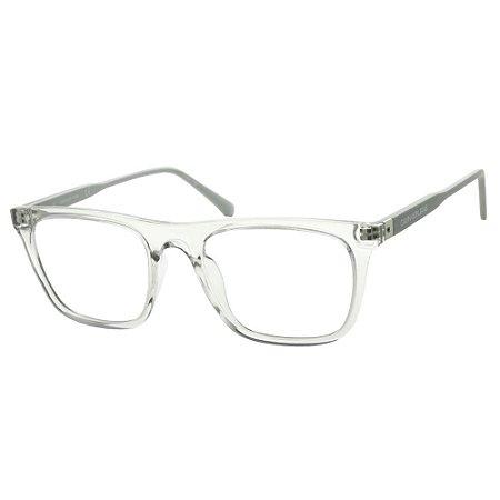 Óculos de Grau Calvin Klein Jeans CKJ19524 057/53 Cinza Transparente