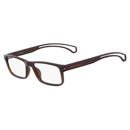 Óculos de Grau Calvin Klein Jeans CKJ19509 201/55 Marrom Transparente