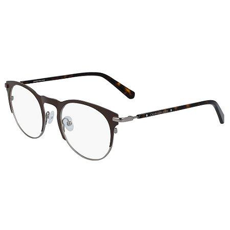Óculos de Grau Calvin Klein Jeans CKJ19313 201/49 Marrom Fosco