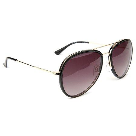 Óculos de Sol Atitude AT3242 A01/56 Preto/Dourado