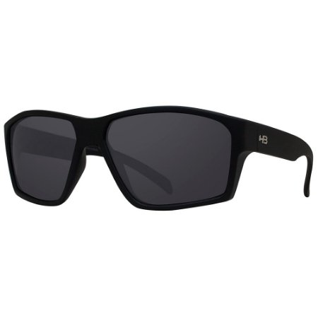Óculos de Sol HB Stab/59 Preto Fosco - Lente Cinza