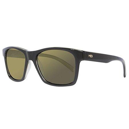 Óculos de Sol HB Unafraid/54 Preto - Lente Dourado Polarizado