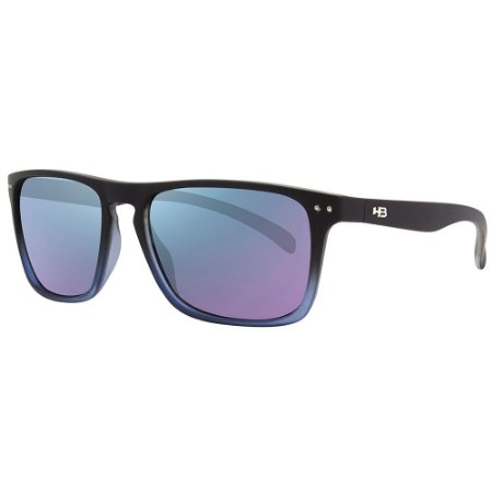 Óculos de Sol HB Cody/55 Preto - Lente Azul Espelhado