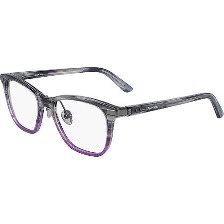 Óculos de Grau Calvin Klein CK20505 077/51 Cinza/Roxo