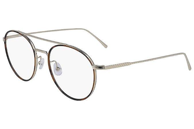Óculos de Grau Lacoste L2250 714/52 Tartaruga/Dourado