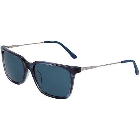 Óculos de Sol Calvin Klein CK19703S 421/56 Tartaruga Azul