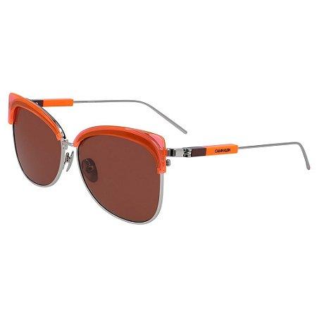 Óculos de Sol Calvin Klein CK19701S 856/59 - Laranja
