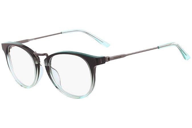 Óculos de Grau Calvin Klein CK18721 332/49 Cinza Degradê Verde