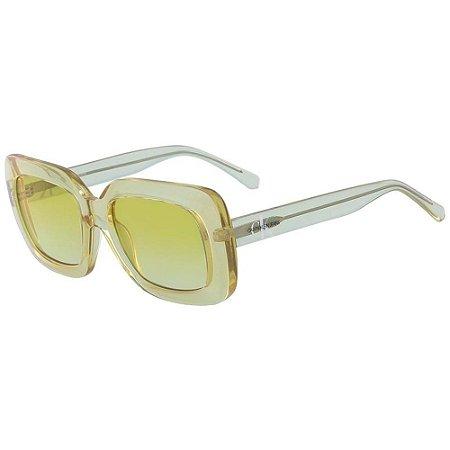 Óculos de Sol Calvin Klein Jeans CKJ18502S 740/54 Amarelo Transparente