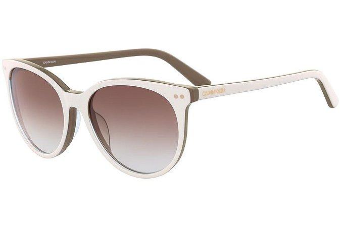 Óculos de Sol Calvin Klein CK18509S 107/55 Bege/Marrom