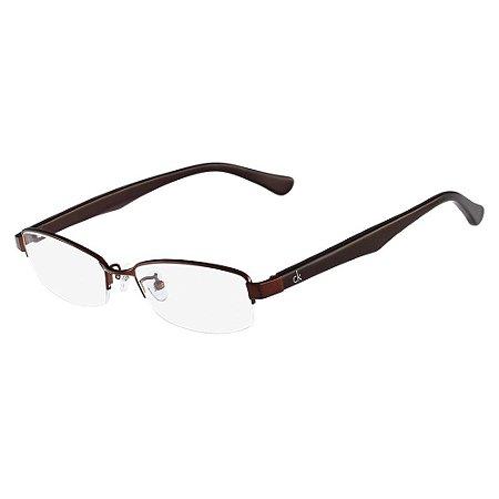 Óculos de Grau Calvin Klein CK5304A 201/53 Marrom Escuro