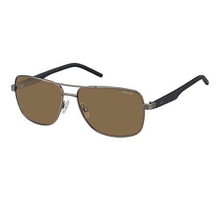 Óculos de Sol Polaroid 2042/S/59 Cinza/Azul