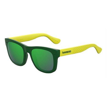 Óculos de Sol Havaianas Paraty/S/48 -Verde Amarelo
