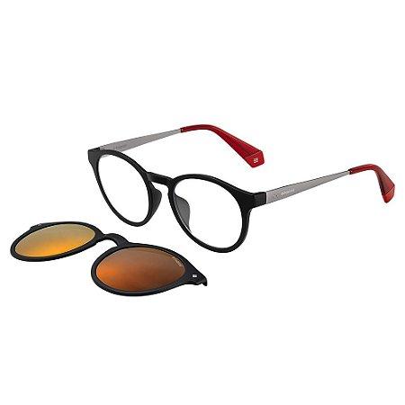 Óculos de Sol Polaroid 6081/G/CS/49 Preto/Vermelho
