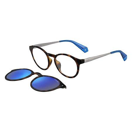Óculos de Sol Polaroid 6081/G/CS/49 Azul/Havana