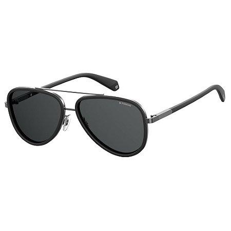 Óculos de Sol Polaroid 2073/S/57 - Preto Fosco