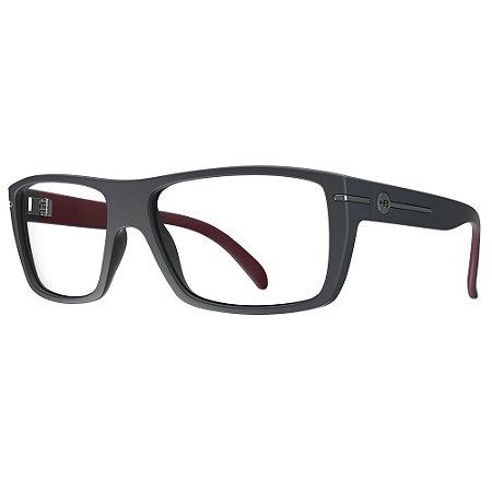 Óculos de Grau HB Polytech 93023/57 Grafite Fosco/Bordo