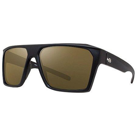 Óculos de Sol HB Split Carvin/60 Preto - Lente Dourado Espelhado