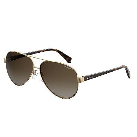 Óculos de Sol Polaroid 4061/S/61 Branco/Dourado